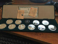 1988 Calgary Olympic$20 Solid Silver Coin Set(Rare Complete Set)