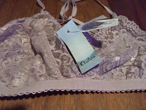 Aritzia lace bra and knee high socks with tags