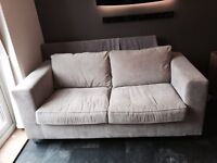 Sofa - two seater, silver grey, 6 months old, EXCELLENT CONDITION!