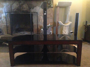 Three shelf mountable TV stand
