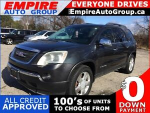 2007 GMC ACADIA LEATHER * SUNROOF * DVD * 7 PASS