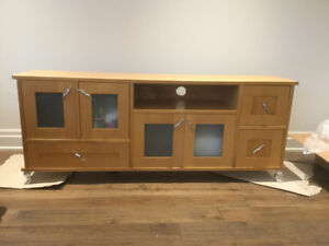 Wood Cabinet TV Unit  stand