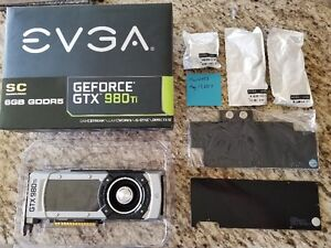 EVGA GTX 980 Ti SC with optional waterblock and backplate