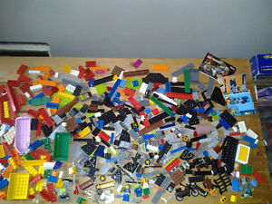 Lego Lot minifigs blocks boat motorcycle treasure chests and muc