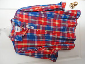 Women's Old Navy red plaid flannel dress shirt buttondown XL NWT London Ontario image 1