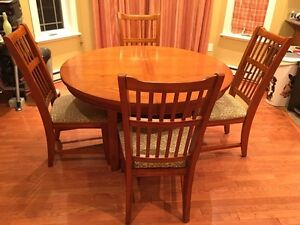 Round/Oval Dining Table with Leaf, 6 Chairs St. John's Newfoundland image 1