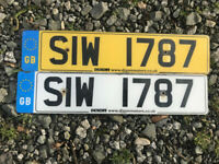 SIW 1787 PLATE FOR SALE STEVE SAM STUART SARAH DATELESS PRIVATE NUMBER PLATE