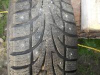 4 studded 14 Inch tires