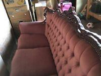 beautiful old time sofa