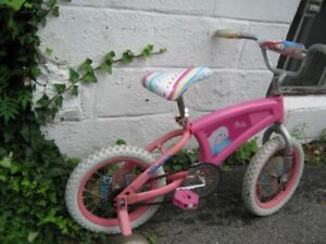 "14"" barbie girl kids bike. mint condition. works fine."