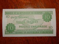 10 francs République du Burundi