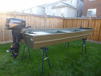 12' Jon Boat with 4hp Evinrude - Great Duck Hunting Boat