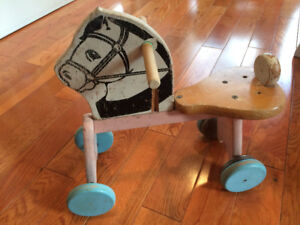 Adorable Vintage Antique Horse Pony Ride on Baby Nursery Toy