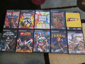 PS2 games,Crazy taxi, Sims,Rock band,lego SW,battlefront,scooby