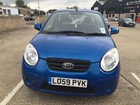 KIA PICANTO 2010 BLUE 1.1 LOW MILLEAGE £30 ROAD TAX