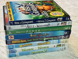Kids DVD Pack - includes Shrek, Madagascar, and more!