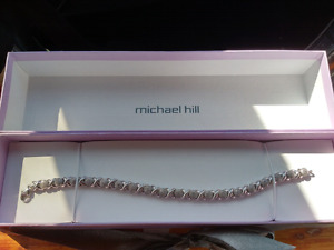 Michael Hill Diamond and Sterling Silver bracelet