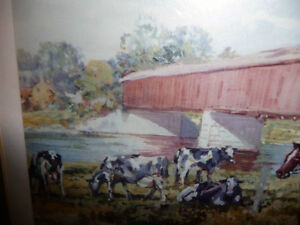 """Peter Etril Snyder """"Cattle By The Covered Bridge"""" Signed/Numbere Stratford Kitchener Area image 7"""