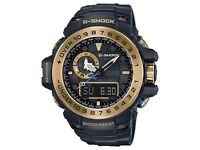 Casio G-Shock GWN-1000GB-1AER Gulfmaster Watch Black & Gold BNWT