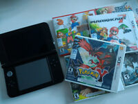Nintendo 3DS XL + 6 Games, Excellent condition, Sealed game