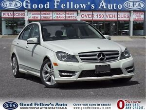 2012 Mercedes-Benz C 300 4MATIC, NAV, CAMERA, PAN ROOF, LEATHER
