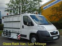 2012/12 Peugeot Boxer 330 2.2Hdi 100 L1 H1 Glaziers Glass Rack Van Low Mileage