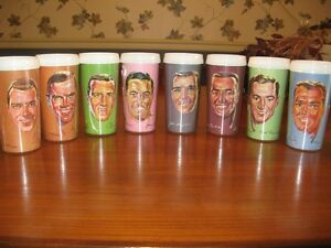Collection de verres thermos joueurs d'Hockey Cadadien 1965-66