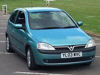 Vauxhall Corsa 1.2 Sxi 2003 Cheap Runaround Years Mot