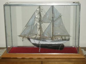 STAINED GLASS BRIGANTYNE SHIP