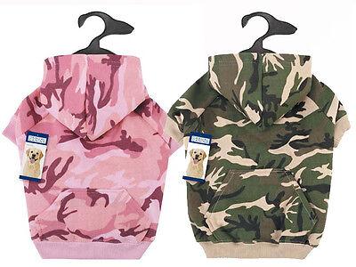 Dog Hoodie Camo Camouflage Hoodies Green Pink Pet Coat -