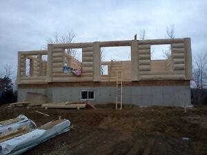 Maison ou chalet en bois rond