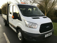 2016 16 FORD TRANSIT DROPSIDE 350 L3 LWB DOUBLE CAB 125BHP ONLY 35,000 MILES