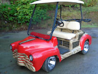 WOW! Custom golf cart. Dare to be different!