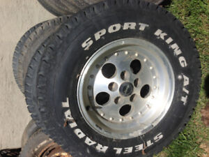 Factory Jeep Gambler Rims 15 x 8, set of four, Great Condition