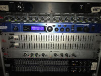 Live sound rack gear + Mixer and Gator case