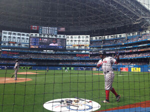In The ACTION Seats Toronto Blue Jays Tickets FIRST ROW Row 1 AA
