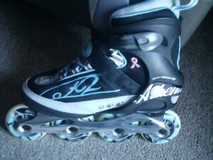 Athena Alu Roller Blades //// womens Size 8