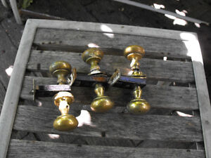 OLD Brass Doorknobs w/ Guts