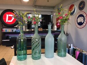 Large Decorative Glass Bottles - Great for Gifts
