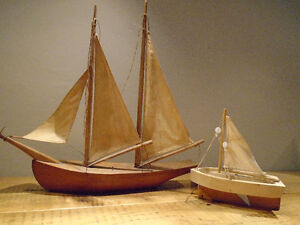 Vintage Wooden Sailboats