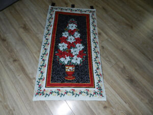 """for sale a New """"vase of Poinseta"""" wall hanging"""