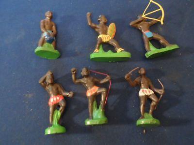 6 farbige DDR Indianer selten