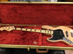 Left Handed Fender Squire Jazz Bass with Tweed Case NEW