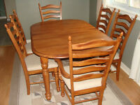 Dining room set by Hamilton Spill