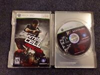 Splinter Cell conviction metal case and game
