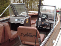 16 ft sylvan fishing boat with 60 hp mercury