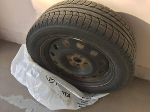 """18"""" 235/55R18 Michelin winter tires WITH rims"""