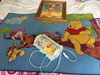 Winnie the Pooh rug, light and picture