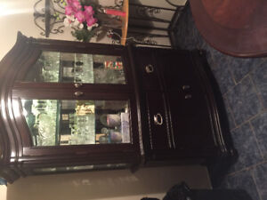 Solid Wood China Cabinet and Dining room table!