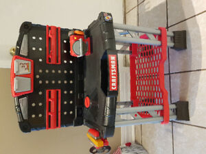 Craftsman workbench for kids with tools